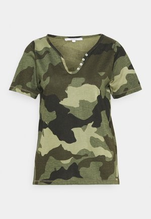 CAMI - Print T-shirt - forest green