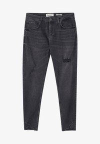 PULL&BEAR - Skinny džíny - mottled black - 5