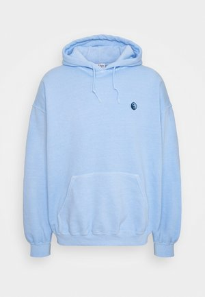 CORE OVERDYED HOODIE WITH YIN YANG UNISEX - Sweatshirt - sky blue