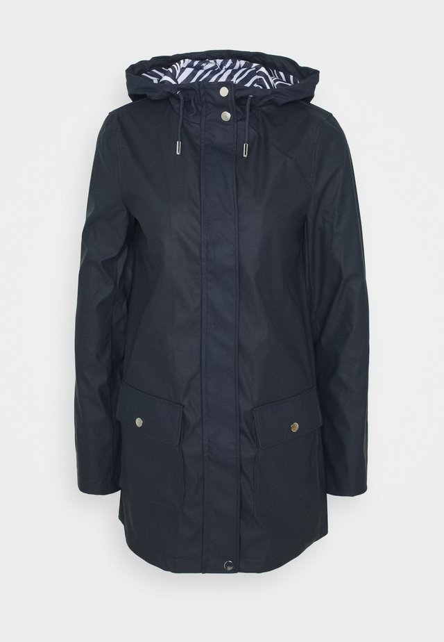 TALL RAINCOAT - Waterproof jacket - navy