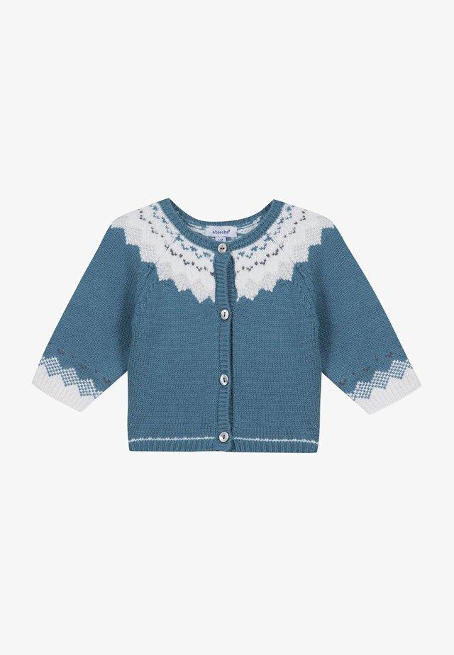 BOUTIQUE JACQUARD - Cardigan - turquoise