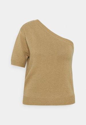 ONE SHOULDER - Print T-shirt - cornstalk