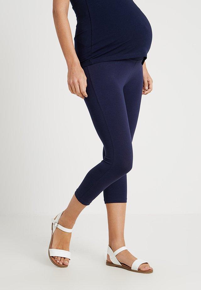 2 PACK - Leggings - white/dark blue