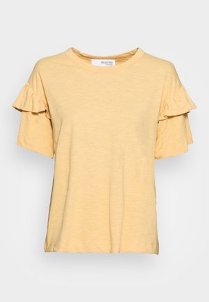 SLFRYLIE FLORENCE TEE - Print T-shirt - sahara sun