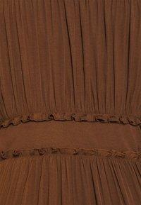 Scotch & Soda - MIDI LENGTH DRESS WITH RUFFLE DETAILS - Jurk - brown - 4