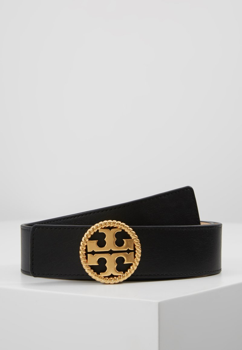 Tory Burch - TWISTED LOGO BELT - Riem - black
