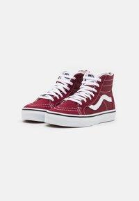 Vans - UY SK8-HI ZIP - High-top trainers - pomegranate/true white - 1