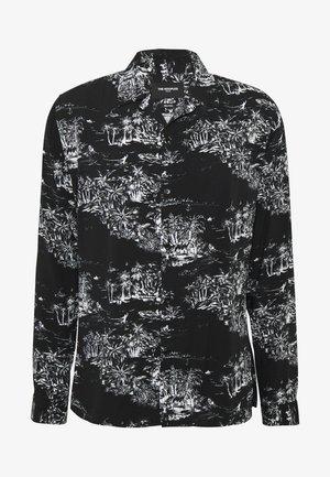 CHEMISE PALM PRINT - Koszula - black/ecru