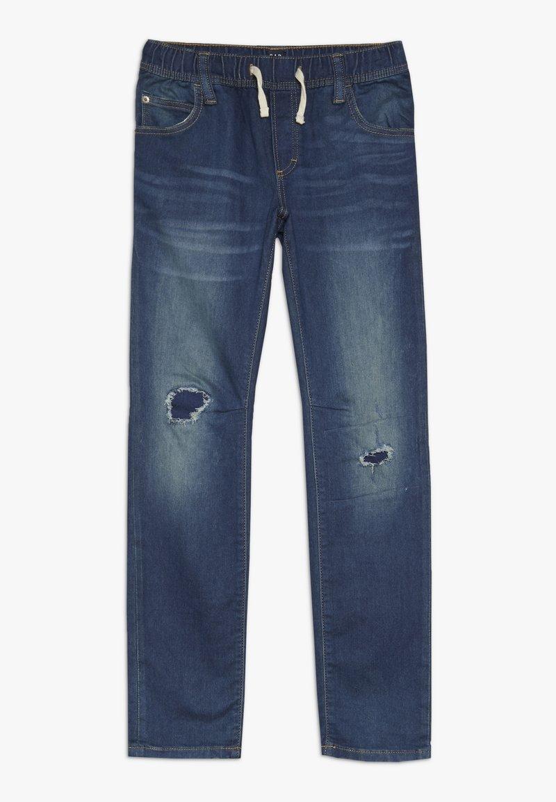 GAP - BOY DESTROY - Slim fit jeans - blue denim