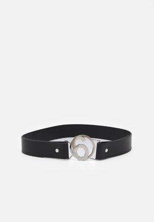 Belt - silver/black