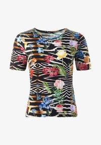 Clarina - CLAUDIA - TOPP  - Print T-shirt - schwarz - 0