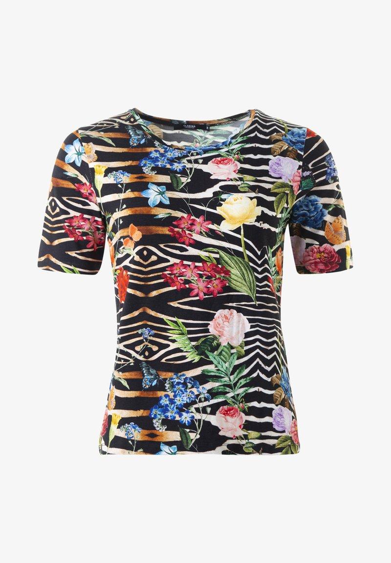 Clarina - CLAUDIA - TOPP  - Print T-shirt - schwarz