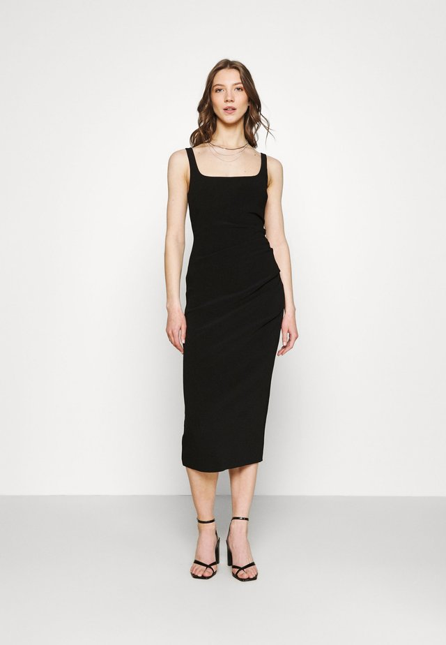 HANA TUCK MIDI DRESS - Kotelomekko - black