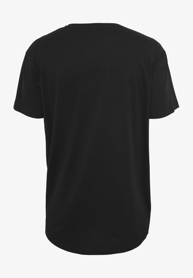SHAPED LONG TEE DO NOT USE - T-shirt - bas - black