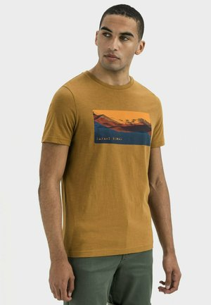 KURZARM  - Print T-shirt - warm brown