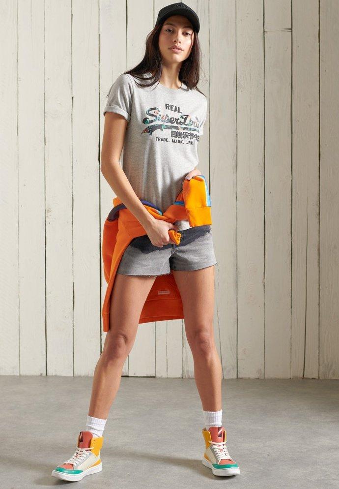 Superdry - VINTAGE LOGO - Print T-shirt - grey marl
