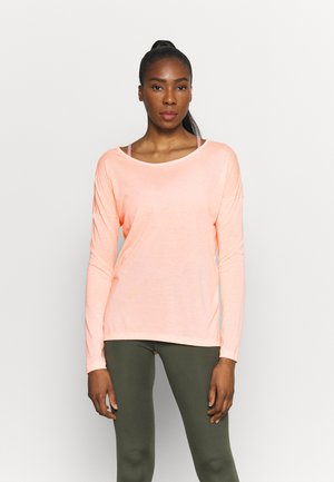 YOGA LAYER - Sports shirt - arctic orange/orange pearl