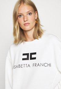 Elisabetta Franchi - Sweatshirt - avorio/nero - 3