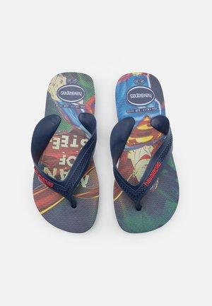 MAX HEROES - T-bar sandals - navy blue