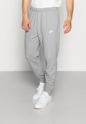 CLUB - Tracksuit bottoms - dark grey heather/matte silver/white