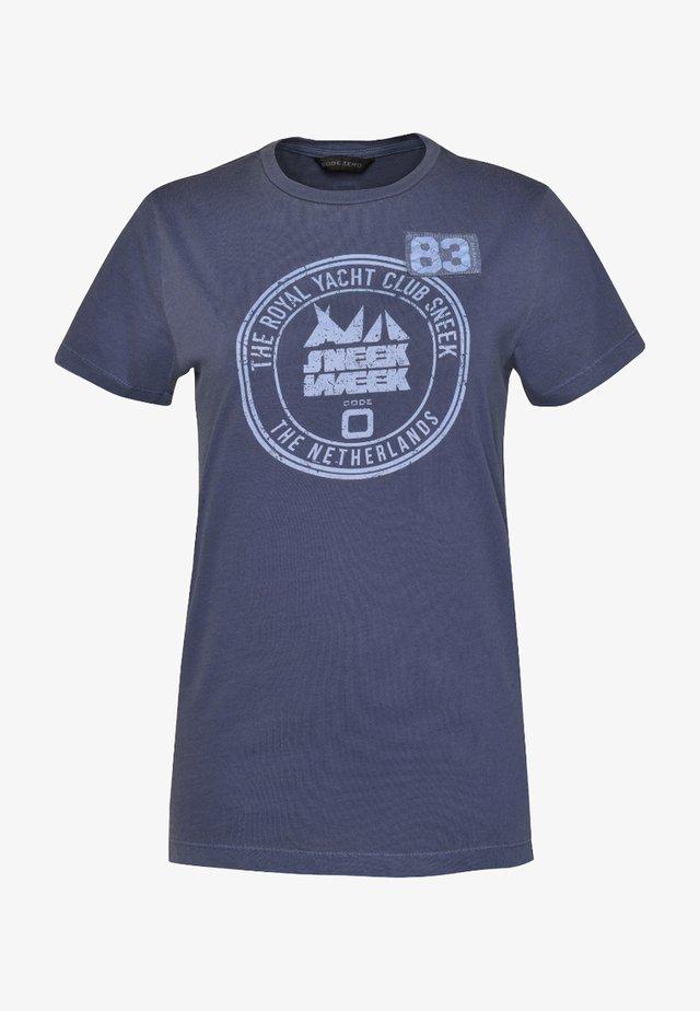 SNEEKWEEK  DAMEN - Print T-shirt - navy