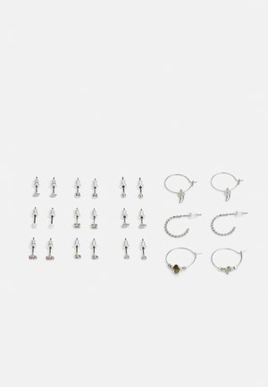 12 PACK - Earrings - silver-coloured