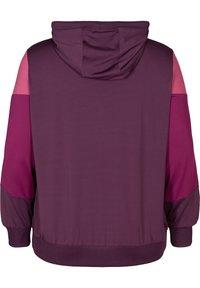 Active by Zizzi - AMONA - veste en sweat zippée - purple - 5
