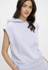 Pieces - Print T-shirt - purple heather - 3