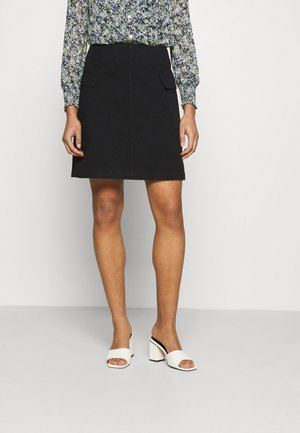 SKIRT PIXIE - Denim skirt - black