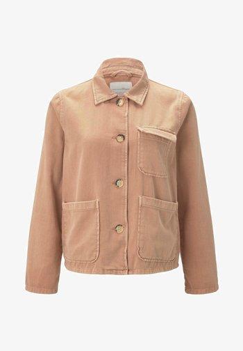Denim jacket - washed coral