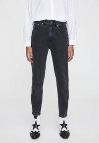 PULL&BEAR - Jeansy Straight Leg - mottled dark grey - 0