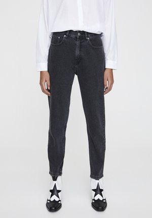 Jeans Straight Leg - mottled dark grey