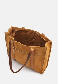 Zign - LEATHER - Tote bag - curry - 3