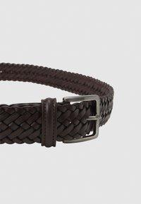 Anderson's - BELT UNISEX - Pletený pásek - dark brown - 3