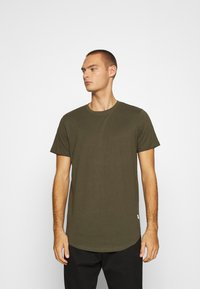 Jack & Jones - JJENOA TEE CREW NECK 5 PACK - Basic T-shirt - white/black/dark blue - 4
