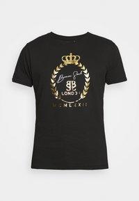 Brave Soul - Print T-shirt - jet black/gold - 3