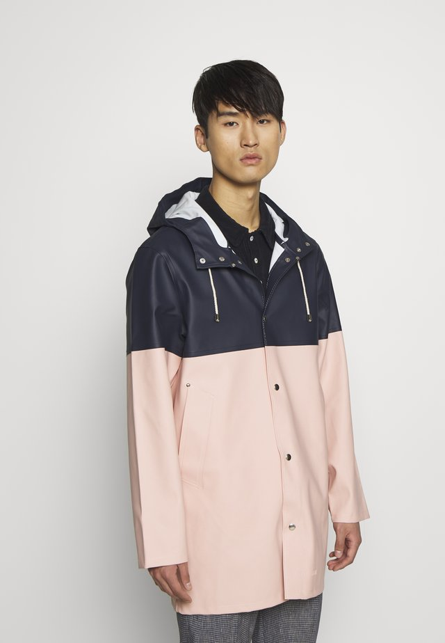 STOCKHOLM BLOCKED - Waterproof jacket - navy