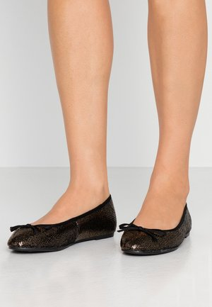 WIDE FIT RAYE SEQUIN - Ballet pumps - pewter