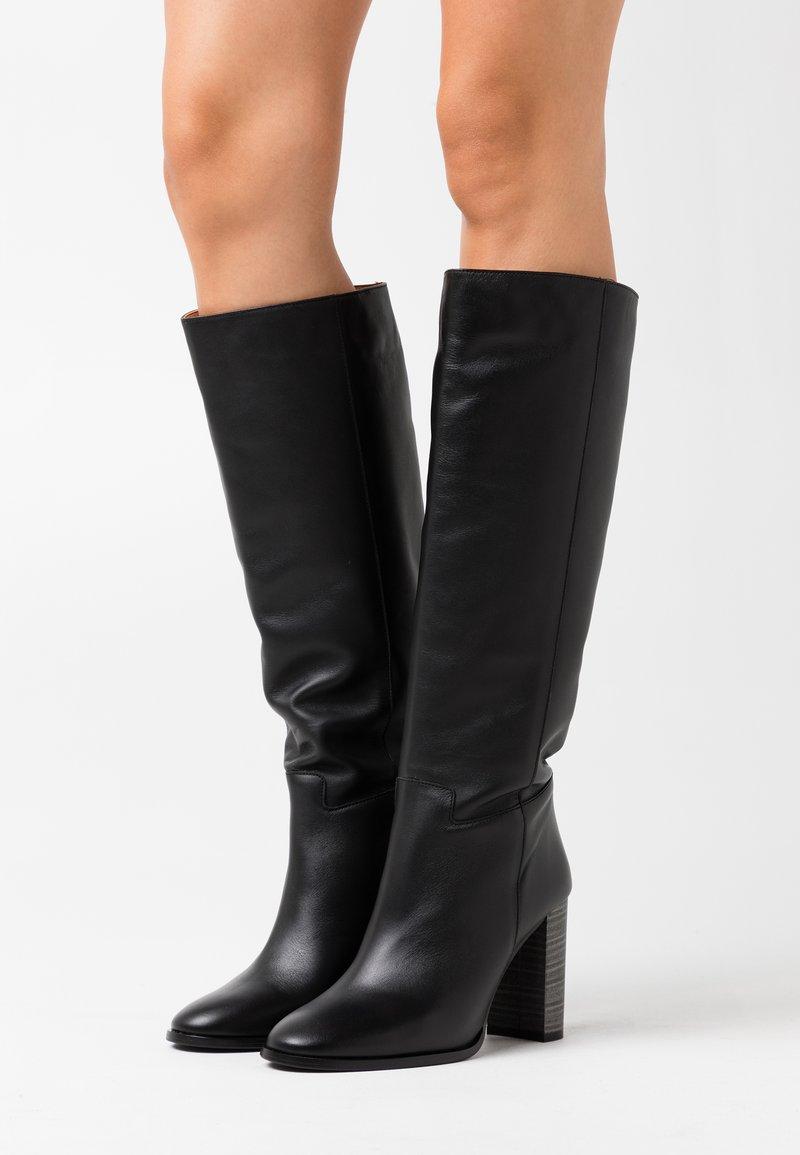 LAB - High heeled boots - black