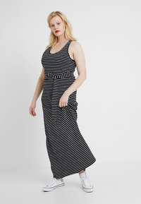 Urban Classics Curvy - LADIES LONG RACER BACK DRESS - Maxi šaty - black/charcoal - 1