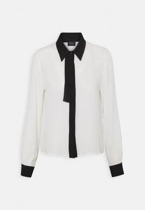 CAMICIA FIOCCO - Button-down blouse - star white/nero