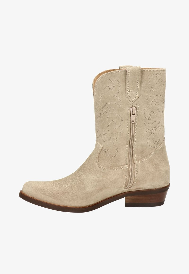 Nelson - Cowboy/Biker boots - beige