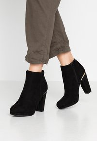 New Look - BRETTLE - High heeled ankle boots - black - 0
