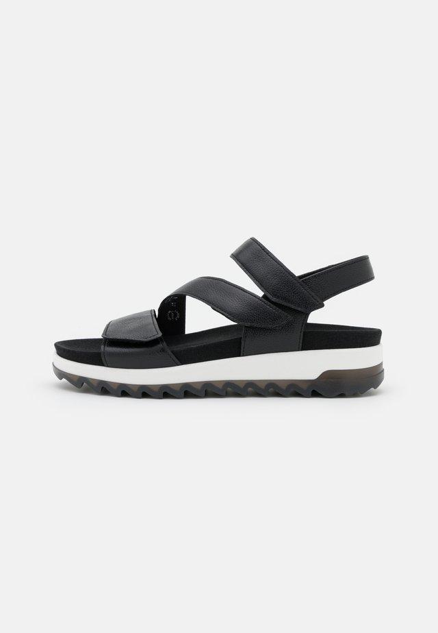 Sandalen met plateauzool - schwarz