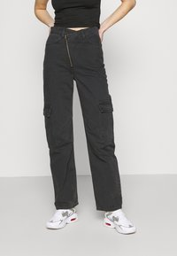 Weekday - ABEL TROUSERS - Straight leg jeans - washed black - 0