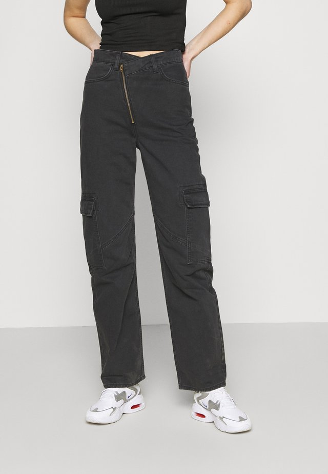 ABEL TROUSERS - Straight leg jeans - washed black