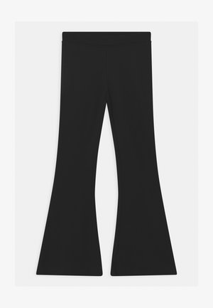 BASIC FLARE - Trousers - black