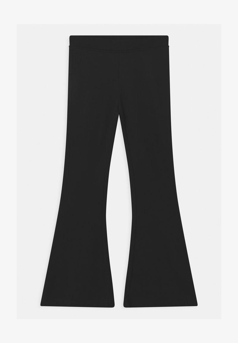Lindex - BASIC FLARE - Trousers - black