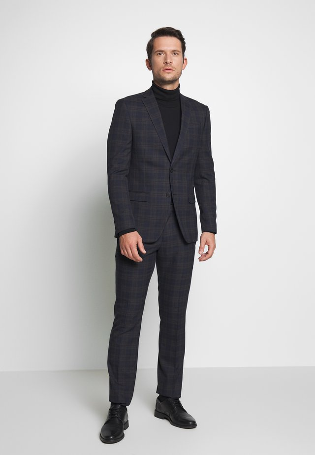 OVERCHECK SUIT SLIM FIT - Jakkesæt - navy
