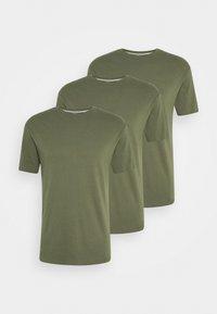 MULTI TEE AUTUMN 3 PACK - Basic T-shirt - dark oliv
